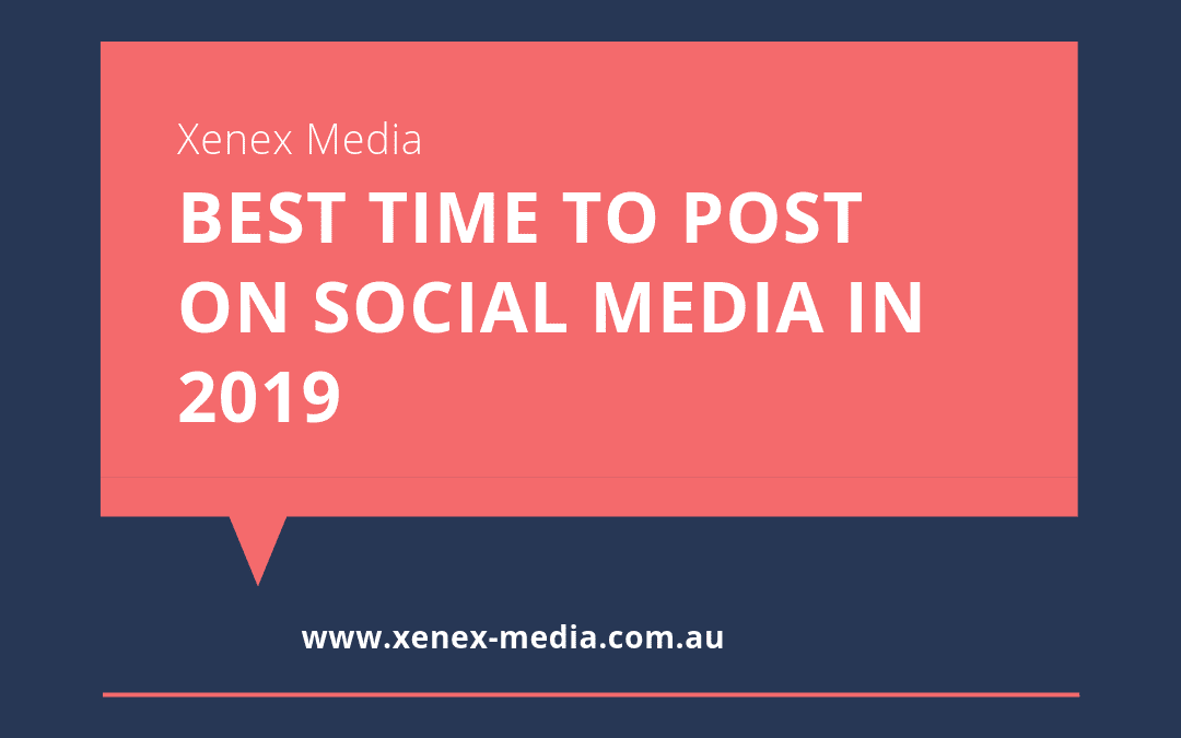 Best time to post on social media in 2019
