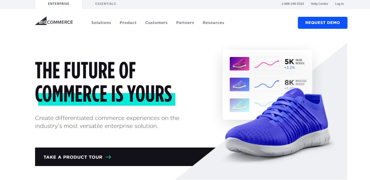 BigCommerce eCommerce Platform, free ecommerce platform, best free online ecommerce platform, best ecommerce platforms 2019, best ecommerce platforms, 9 Best E-commerce development platforms in 2019, ecommerce platforms