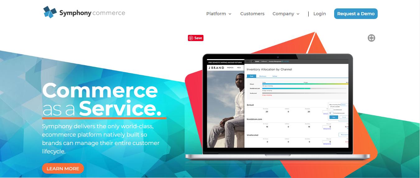 Symphony Commerce eCommerce Platform, free ecommerce platform, best free online ecommerce platform, best ecommerce platforms 2019, best ecommerce platforms, 9 Best E-commerce development platforms in 2019, ecommerce platforms