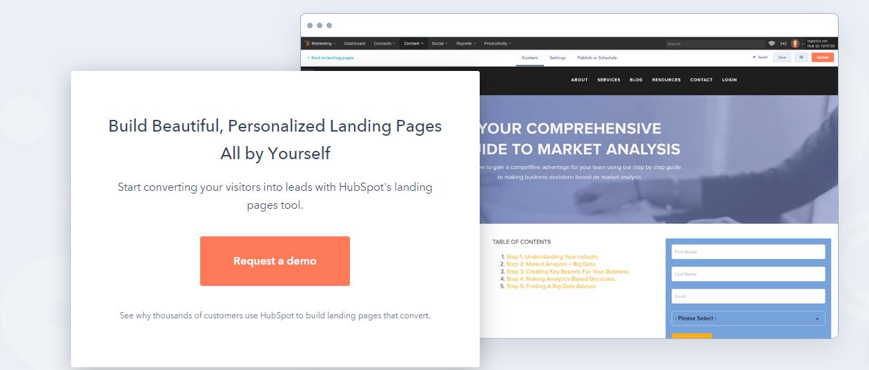 Hubspot Page builder