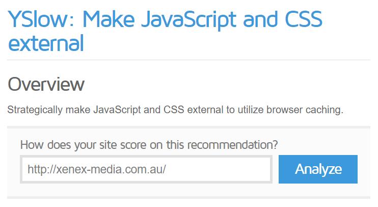 Make External JavaScript and CSS - SEO Checklist